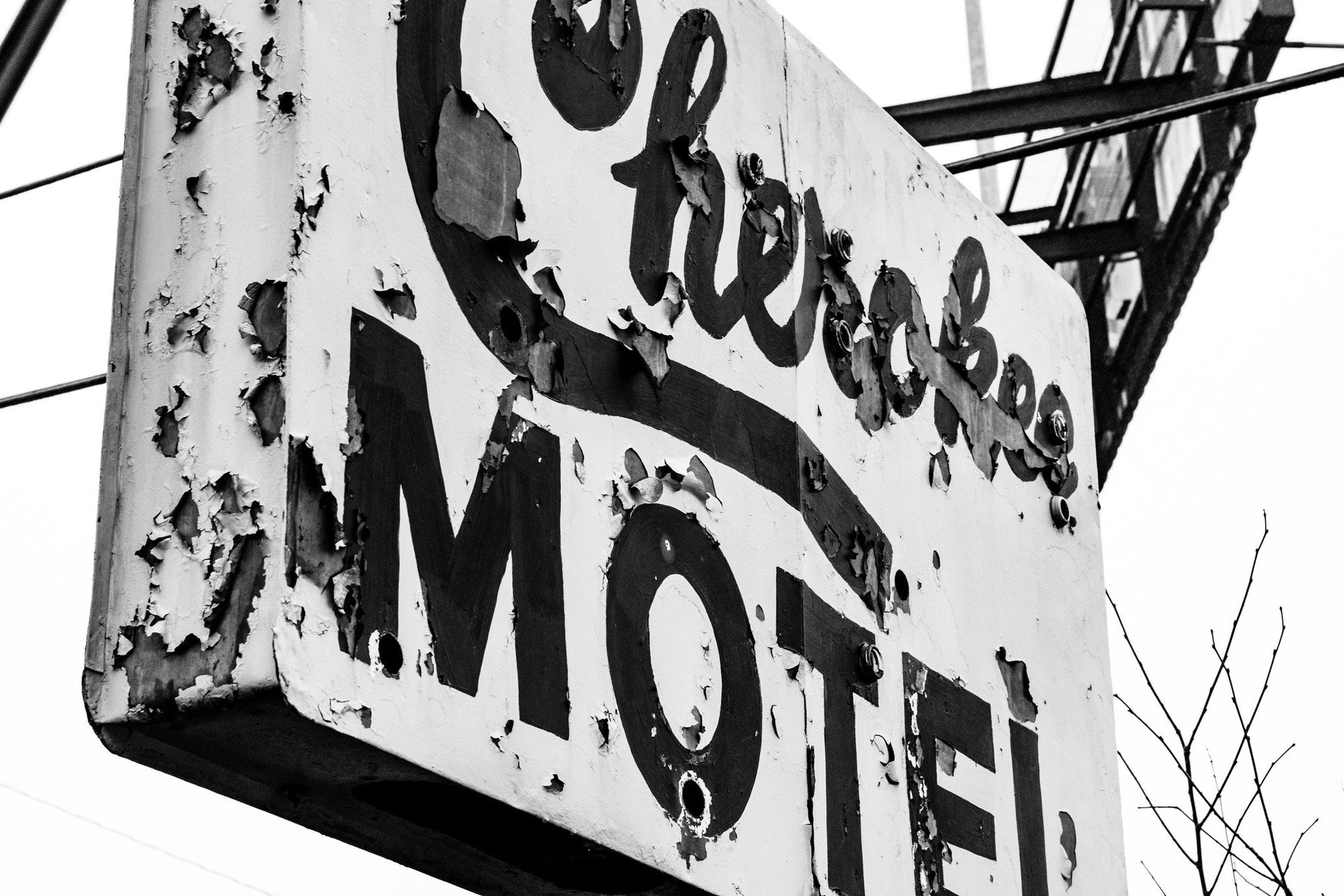 Buy Cherokee Motel : An Abandoned to Grace Art Print from Walking Pants Curiosities, the Most un-General Gift Store in Downtown Memphis, Tennessee!