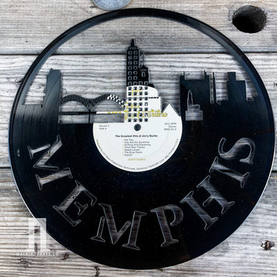 Memphis Vinyl Record Art Series