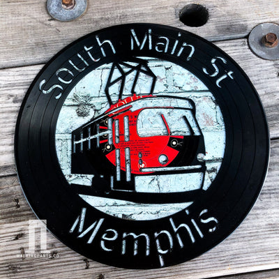 South Main Arts District in Downtown Memphis Vinyl Record Art Series
