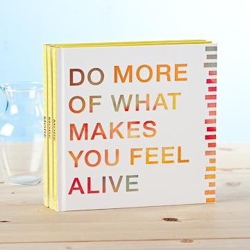 Buy Do More Of What Makes You Feel Alive Gift Book from Walking Pants Curiosities, the Most un-General Gift Store in Downtown Memphis, Tennessee!