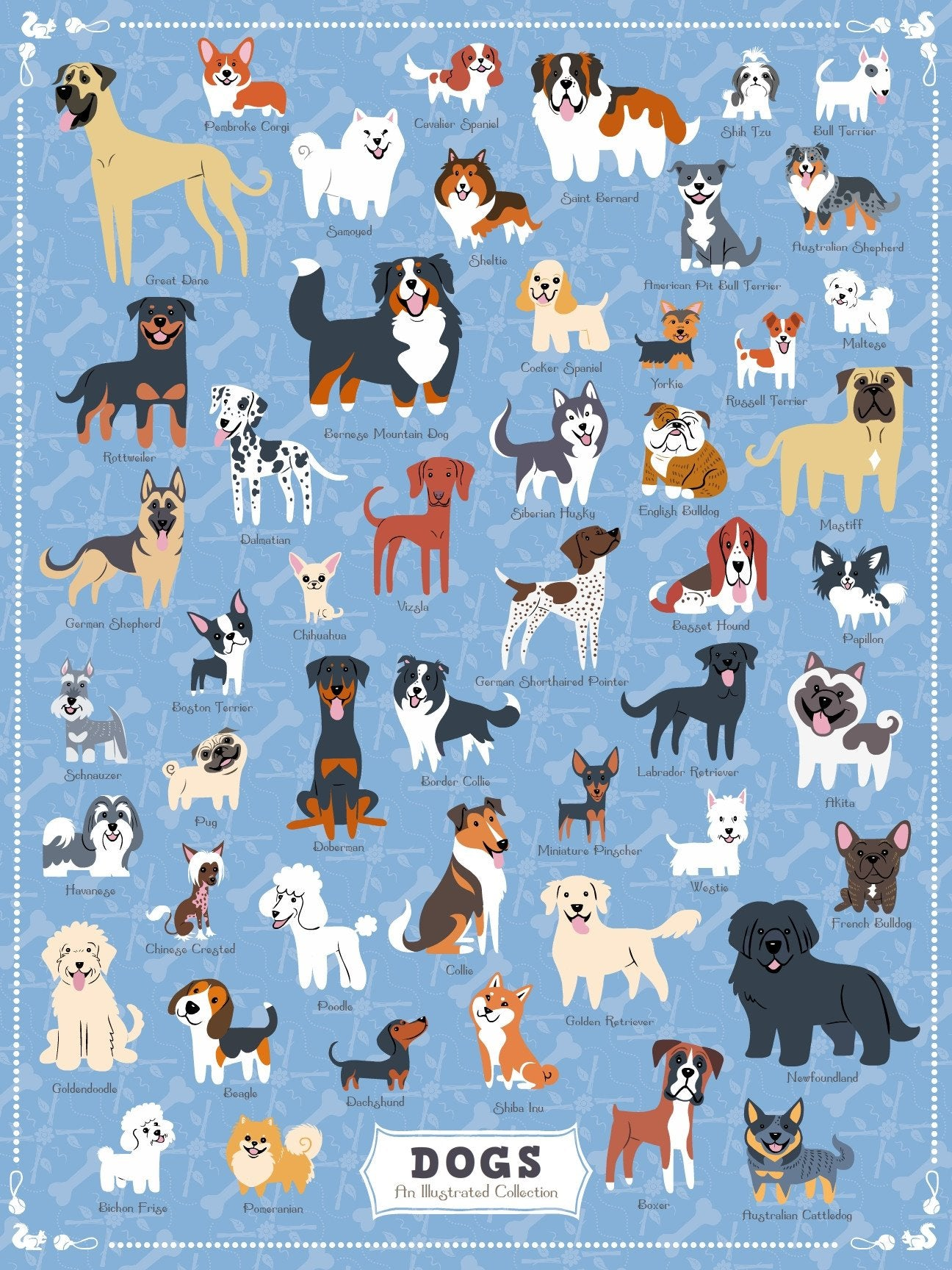 Buy Dogs of America, 500 Piece Jigsaw Puzzle from Walking Pants Curiosities, the Most un-General Gift Store in Downtown Memphis, Tennessee!