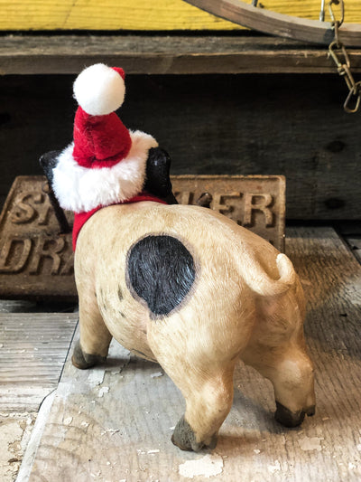 Buy Christmas Baby Pig Figurine from Walking Pants Curiosities, the Most un-General Gift Store in Downtown Memphis, Tennessee!