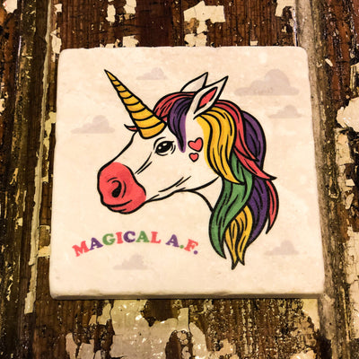 Buy Magical A.F. Coasters from Walking Pants Curiosities, the Most un-General Gift Store in Downtown Memphis, Tennessee!