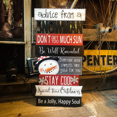 Buy Advice From A Snowman Wall Art from Walking Pants Curiosities, the Most un-General Gift Store in Downtown Memphis, Tennessee!