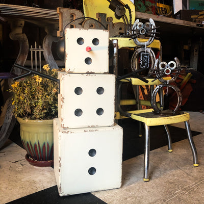 Buy Christmas Snowman Dice Decor from Walking Pants Curiosities, the Most un-General Gift Store in Downtown Memphis, Tennessee!