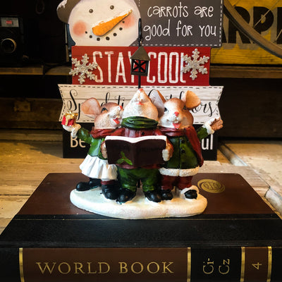 Buy Christmas Caroling Mice Figurine from Walking Pants Curiosities, the Most un-General Gift Store in Downtown Memphis, Tennessee!