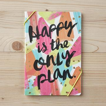 Buy Happy Is The Only Plan Notebook from Walking Pants Curiosities, the Most un-General Gift Store in Downtown Memphis, Tennessee!
