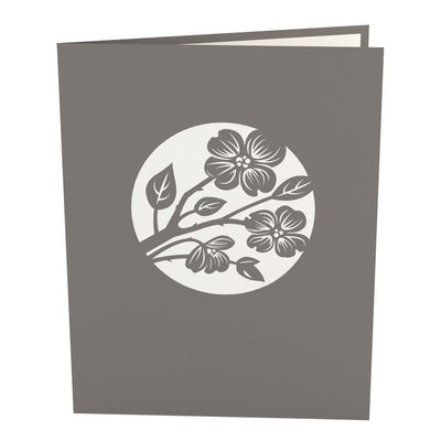 Lovers in a Dogwood Tree Gray 3D card, a Lovepop Magical Greeting Gift Card