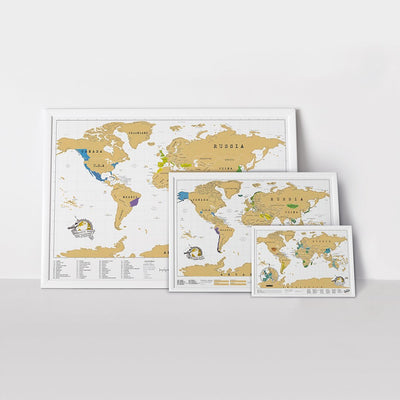 Buy Scratch Map ® - Original World Travel Edition from Walking Pants Curiosities, the Most un-General Gift Store in Downtown Memphis, Tennessee!