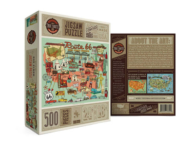 Buy Route 66, 500 Piece Jigsaw Puzzle from Walking Pants Curiosities, the Most un-General Gift Store in Downtown Memphis, Tennessee!