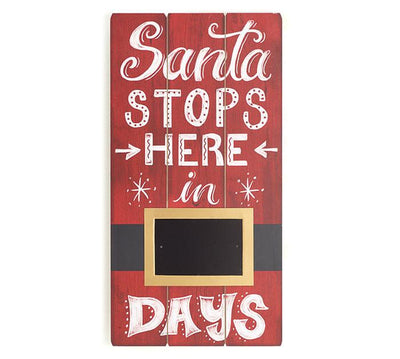 Buy Santa Stops Here In __ Days Rustic Wood Christmas Sign from Walking Pants Curiosities, the Most un-General Gift Store in Downtown Memphis, Tennessee!