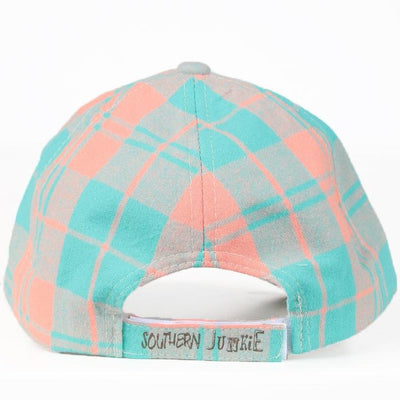 Buy Spirit Lead Me Patch on Turquoise & Peach Plaid Hat from Walking Pants Curiosities, the Most un-General Gift Store in Downtown Memphis, Tennessee!