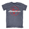 Buy Tri-Star Adventures with Red Stars, a Shirts from Walking Pants Curiosities, the Best Gift Shop Store in Memphis, Tennessee!