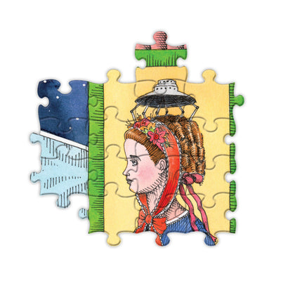 Buy eeBoo's UFO Victorian Ladies 1000 Piece Jigsaw Puzzle from Walking Pants Curiosities, the Most un-General Gift Store in Downtown Memphis, Tennessee!