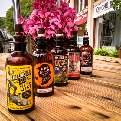 Buy No Sh*% Sherlock Lavatory Mist from Walking Pants Curiosities, the Most un-General Gift Store in Downtown Memphis, Tennessee!