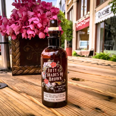 Buy 50 Shades of Brown Lavatory Mist from Walking Pants Curiosities, the Most un-General Gift Store in Downtown Memphis, Tennessee!