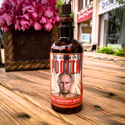 Buy Vladimir Pootin' Lavatory Mist, a Gifts For Home from Walking Pants Curiosities, the Best Gift Shop Store in Memphis, Tennessee!
