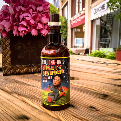 Buy Kim Jong-Un's Mighty Big Lavatory Mist from Walking Pants Curiosities, the Most un-General Gift Store in Downtown Memphis, Tennessee!