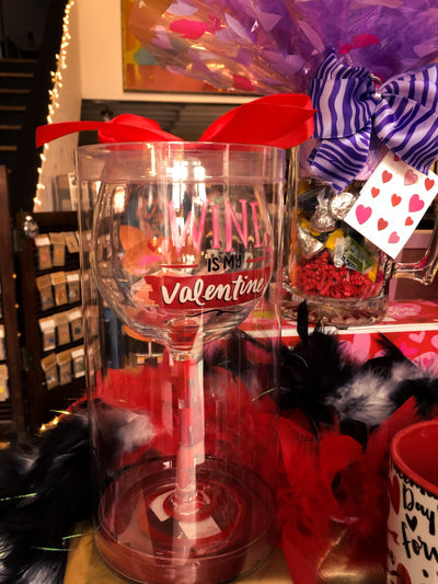 Valentine's Day Wine Glass with Love Note
