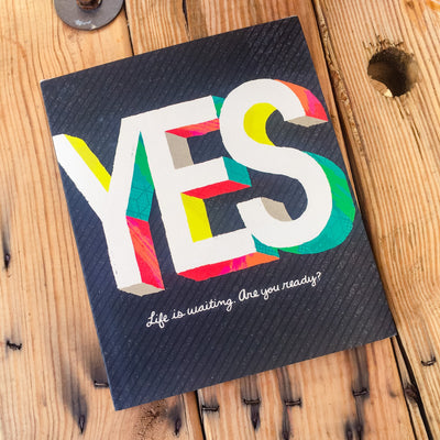 Buy Yes, An Encouraging Hardcover Gift Book from Walking Pants Curiosities, the Most un-General Gift Store in Downtown Memphis, Tennessee!