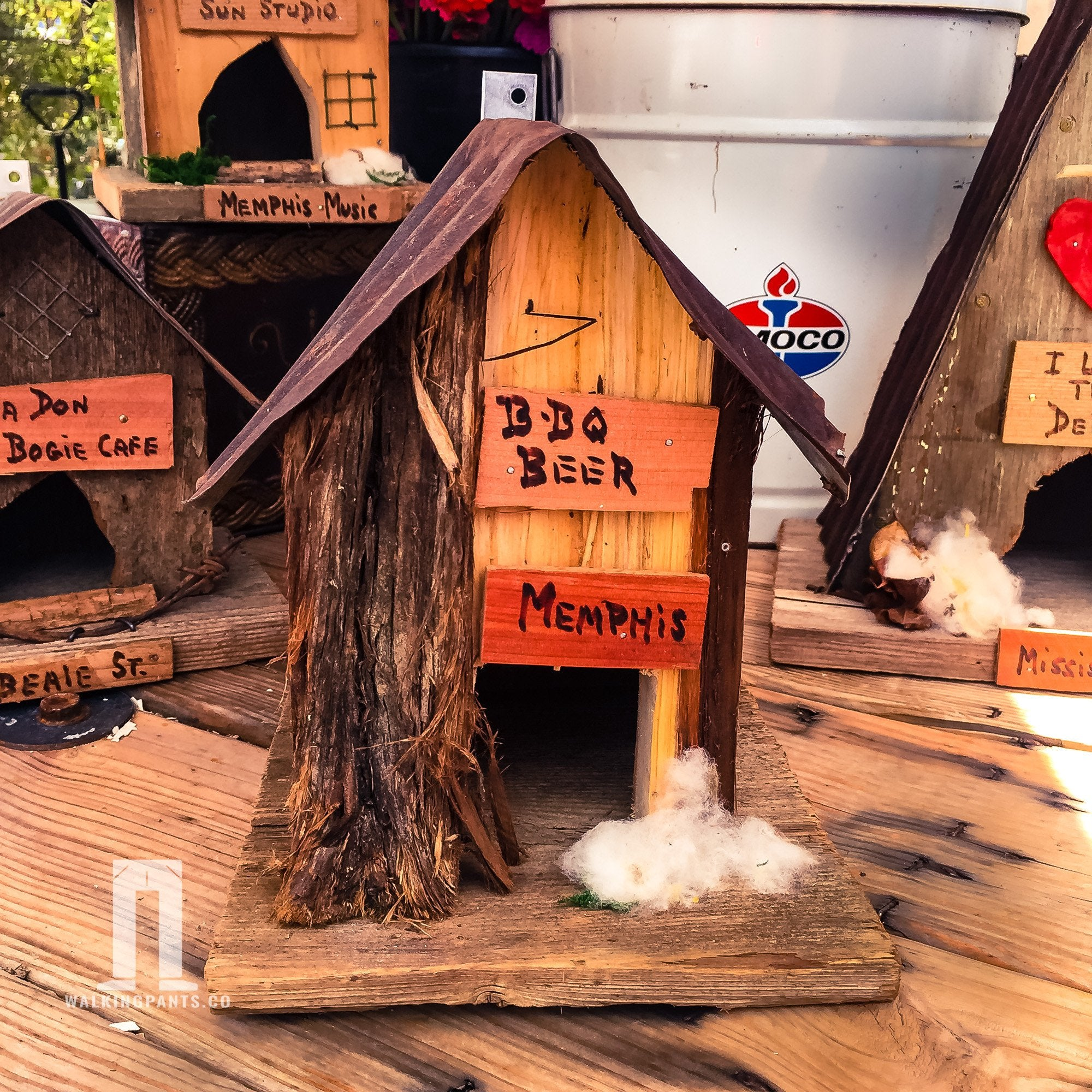 BBQ and Memphis Rustic Juke Joint Birdhouse - Walking Pants Curiosities