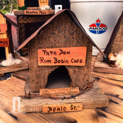 Buy Papa Don Rum-Boogie Cafe Wren Birdhouse, a Birdhouse from Walking Pants Curiosities, the Best Gift Shop Store in Memphis, Tennessee!