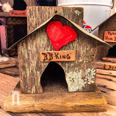 Buy BB King Love Wren Birdhouse, a Birdhouse from Walking Pants Curiosities, the Best Gift Store in Downtown Memphis, Tennessee!