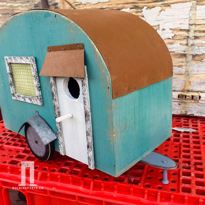 Buy Vintage Airstream Camper Birdhouse, a Gifts For Home from Walking Pants Curiosities, the Best Gift Shop Store in Memphis, Tennessee!