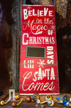 Buy Rustic Believe In Christmas Chalkboard Countdown Sign from Walking Pants Curiosities, the Most un-General Gift Store in Downtown Memphis, Tennessee!