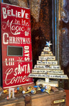 Buy Beautiful Distressed Decorative Wood Christmas Tree with Scripture from Walking Pants Curiosities, the Most un-General Gift Store in Downtown Memphis, Tennessee!