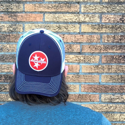 Buy Tri-Star Adventures Tennessee Trucker Hat from Walking Pants Curiosities, the Most un-General Gift Store in Downtown Memphis, Tennessee!