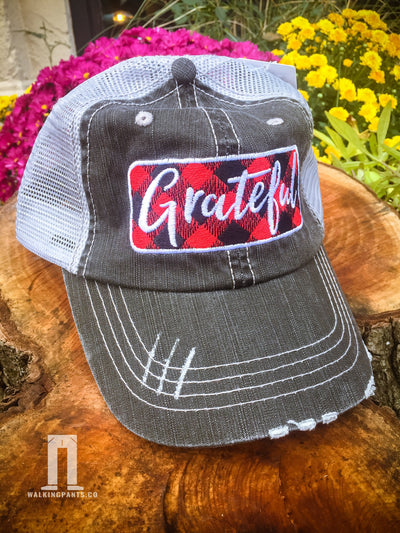 Buy Grateful Women's Trucker Hat from Walking Pants Curiosities, the Most un-General Gift Store in Downtown Memphis, Tennessee!