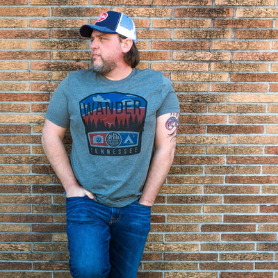 Buy Wanderer Vintage Tennessee T-Shirt from Walking Pants Curiosities, the Most un-General Gift Store in Downtown Memphis, Tennessee!