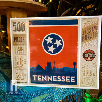 Buy Tennessee State Flag, 500 Piece Jigsaw Puzzle, a Puzzle from Walking Pants Curiosities, the Best Gift Shop Store in Memphis, Tennessee!