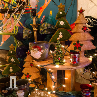 Buy Linen and Burlap Look Christmas Tree for Holidays from Walking Pants Curiosities, the Most un-General Gift Store in Downtown Memphis, Tennessee!