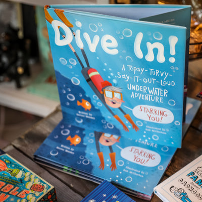 Buy Dive In, A Children's Book from Walking Pants Curiosities, the Most un-General Gift Store in Downtown Memphis, Tennessee!