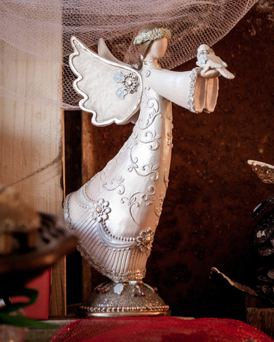 Buy Beautiful Decorative Victorian Angel for Christmas from Walking Pants Curiosities, the Most un-General Gift Store in Downtown Memphis, Tennessee!