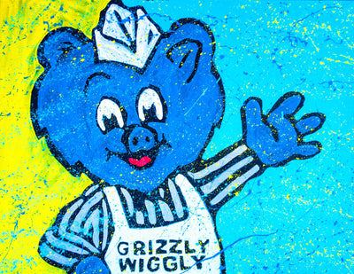 Buy Limited Edition Grizzly Wiggly on Canvas by Adam Exelbierd from Walking Pants Curiosities, the Most un-General Gift Store in Downtown Memphis, Tennessee!