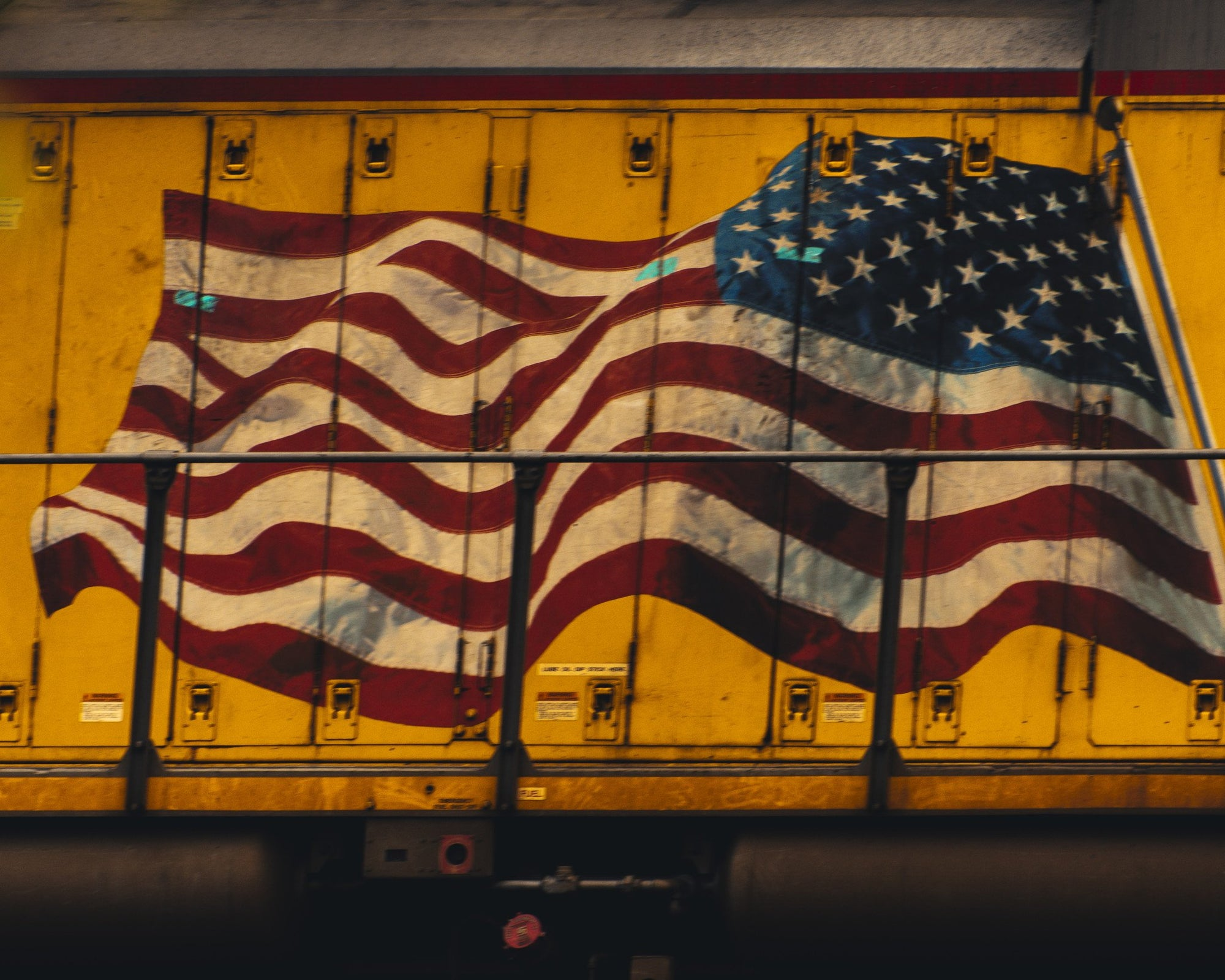 American Workhorse : Train Decor, Wall Art on Canvas - Walking Pants Curiosities