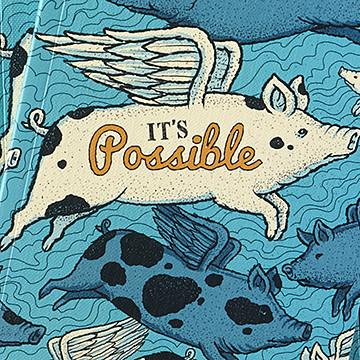 Buy It's Possible, a Write Now Journal, a Book from Walking Pants Curiosities, the Best Gift Shop Store in Memphis, Tennessee!