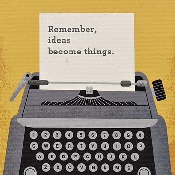 Buy Remember Ideas Become Things, a Write Now Journal from Walking Pants Curiosities, the Most un-General Gift Store in Downtown Memphis, Tennessee!