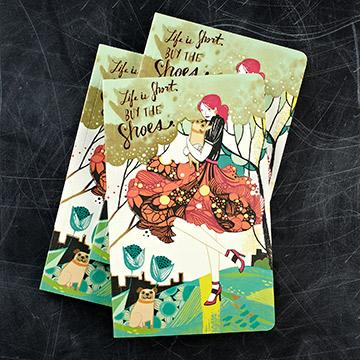Buy Life Is Short Buy The Shoes Notebook from Walking Pants Curiosities, the Most un-General Gift Store in Downtown Memphis, Tennessee!
