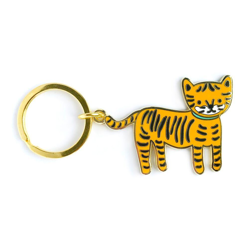 Buy Night Owl Paper Goods - Lil' Tiger Enamel Keychain from Walking Pants Curiosities, the Most un-General Gift Store in Downtown Memphis, Tennessee!