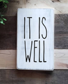 Buy Blue Door Designs - It is well mini wood sign filler gift item from Walking Pants Curiosities, the Most un-General Gift Store in Downtown Memphis, Tennessee!