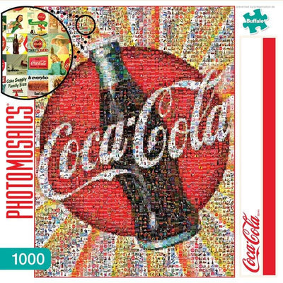 Buy Coca-Cola 1000 Piece Photomosaic Jigsaw Puzzle from Walking Pants Curiosities, the Most un-General Gift Store in Downtown Memphis, Tennessee!