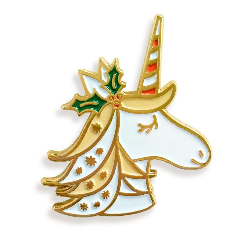 Buy Night Owl Paper Goods - Unicorn Enamel Pin from Walking Pants Curiosities, the Most un-General Gift Store in Downtown Memphis, Tennessee!