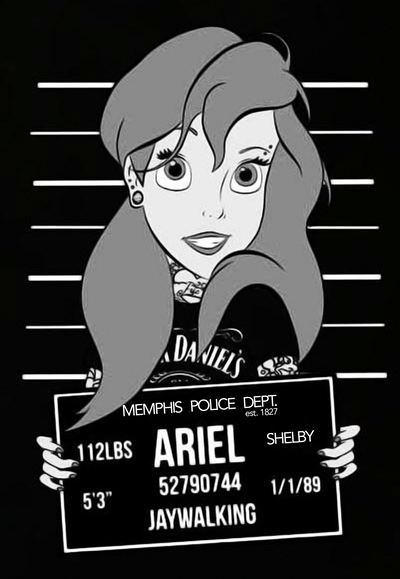 Buy Ariel's Memphis PD Mug Shot on a Flowy Racerback Tank from Walking Pants Curiosities, the Most un-General Gift Store in Downtown Memphis, Tennessee!