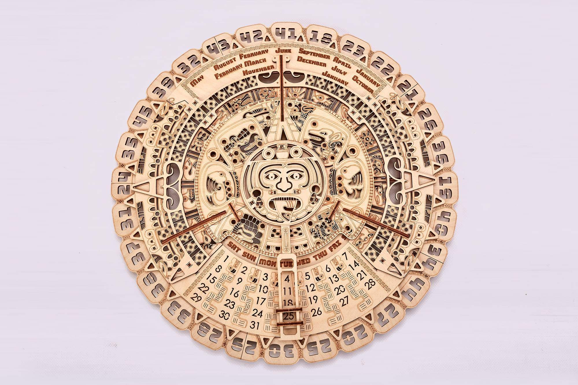 Mayan Calendar Wooden 3D Model - Walking Pants Curiosities
