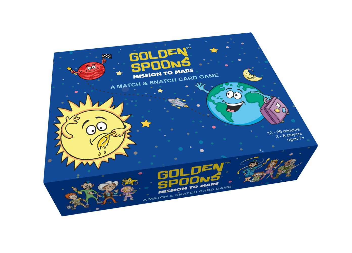 Buy Golden Spoons: Mission to Mars – A Match & Snatch Card Game from Walking Pants Curiosities, the Most un-General Gift Store in Downtown Memphis, Tennessee!