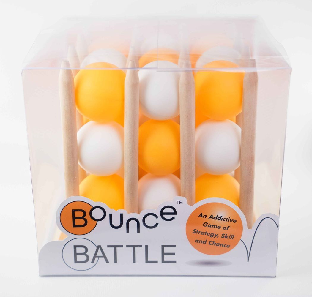 Bounce Battle Premium Wood Edition Game Set: An Addictive Game of Strategy, Skill & Chance - Walking Pants Curiosities
